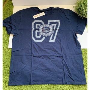 NCC Gonzaga Bulldogs 87 Mens Navy Tee Short Sleeve
